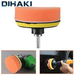"Image 1 - 7Pcs Glass/Car Polishing 3"" Polishing Head Wave Sponge Polishing Pad Wheel Buffing Pad Set with M10 Drill Adaptor Electric Drill"