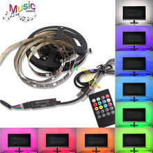 SMD 5050 USB RGB LED Strip 5V TV Background Lighting Flexible Neon Tape Ribbon
