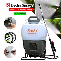 2Ah/4Ah 15L Elektrische Sprayer ULV Fogger 4 Düsen Lithium-Tragbare Rucksack Pumpe Desinfektion Moskito Spritzen Kalten Fogger