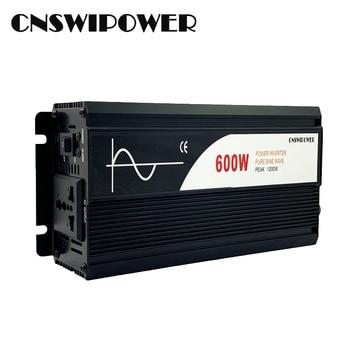 600W pure sine wave solar power inverter DC 12V 24V 48V  to AC 110V 220V (PEAK 1200W) 1