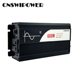600W pure sine wave solar power inverter DC 12V 24V 48V  to AC 110V 220V (PEAK 1200W)