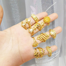 2020 New Accesories African Gold Rings For Women Wedding Engagement Ring Adjustable Bague Anillo Femme Statement Jewelry Party meaeguet gold color luxury paved crystal engagement ring for women stainless steel big statement ring jewelry bague femme