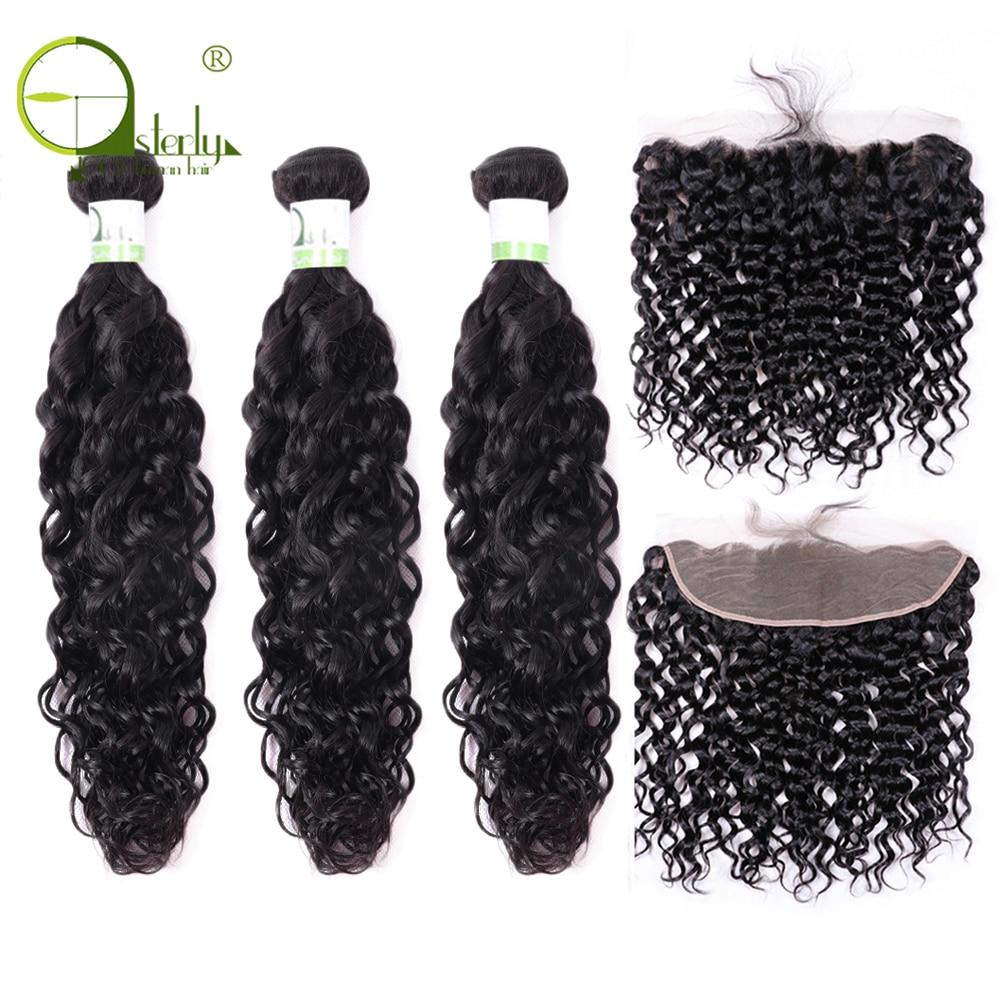H2800c3dab7c04e3286e52ea26420a15f3 Sterly Water Wave Bundles With Frontal Closure 13x4 Lace Frontal With Bundles Remy Brazilian Hair Weave Bundles