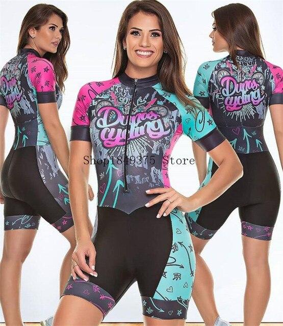 Time profissional triathlon roupa de ciclismo, camiseta de manga curta feminina, macacão, conjunto de ciclismo em gel, 2020 3