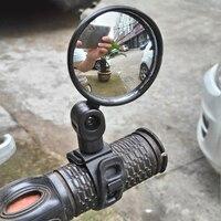 Guidão universal ajustável bicicleta espelho retrovisor grande angular espelho convexo ciclismo acessórios da bicicleta mtb|Espelhos de bicicleta| |  -