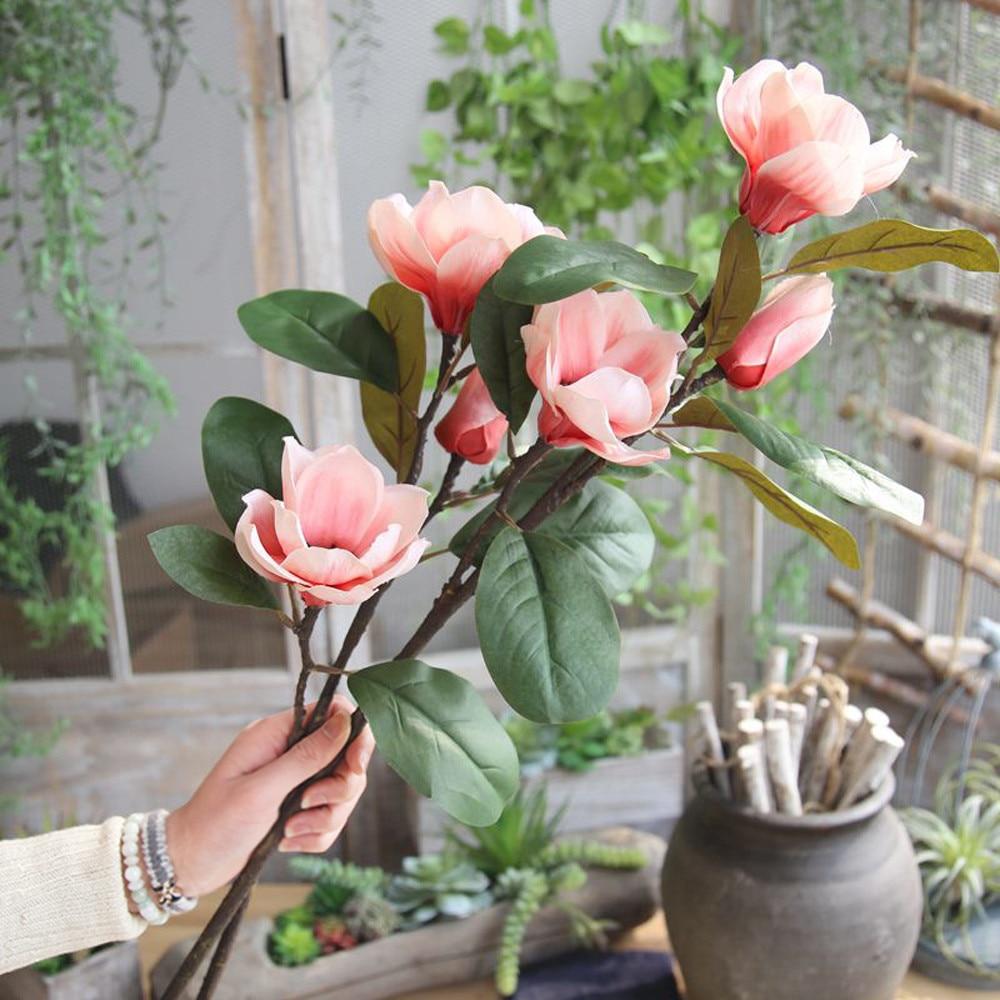 Künstliche Gefälschte Blumen Blatt Magnolia Blumen Hochzeit Bouquet Party Wohnkultur Blumen Decor Garland Home Hochzeit Decor 112