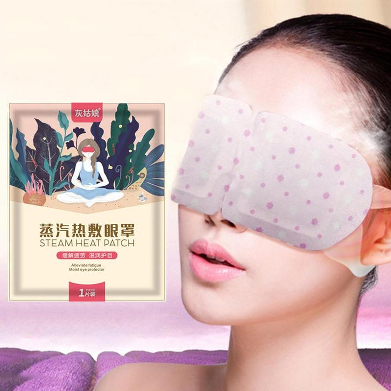 Steam Eye Mask Lavender Jasmine Chamomile Tasteless Steam Eye Mask Dark Circle Eye Bags Eliminate Puffy Anti Wrinkles Eye Care