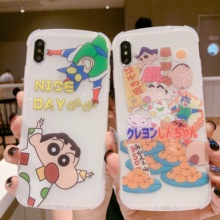 Crayon shin-chan Cartoon Phone Case Cute for iPhone 6 6s 7 8 Plus X XS XR XSMax Soft arc Cover anti-knock