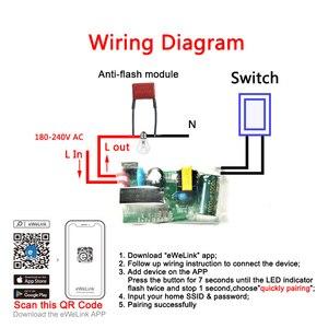 Image 2 - Модуль Wi Fi eWeLink с одним проводом, «сделай сам» мини выключатель Wi Fi, таймер, модуль дистанционного управления, работает с Alexa