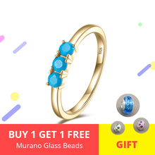 New Design 925 Sterling Silver Three Blue Zircon Gold Color Finger Rings for Women Jewelry Gifts free shipping