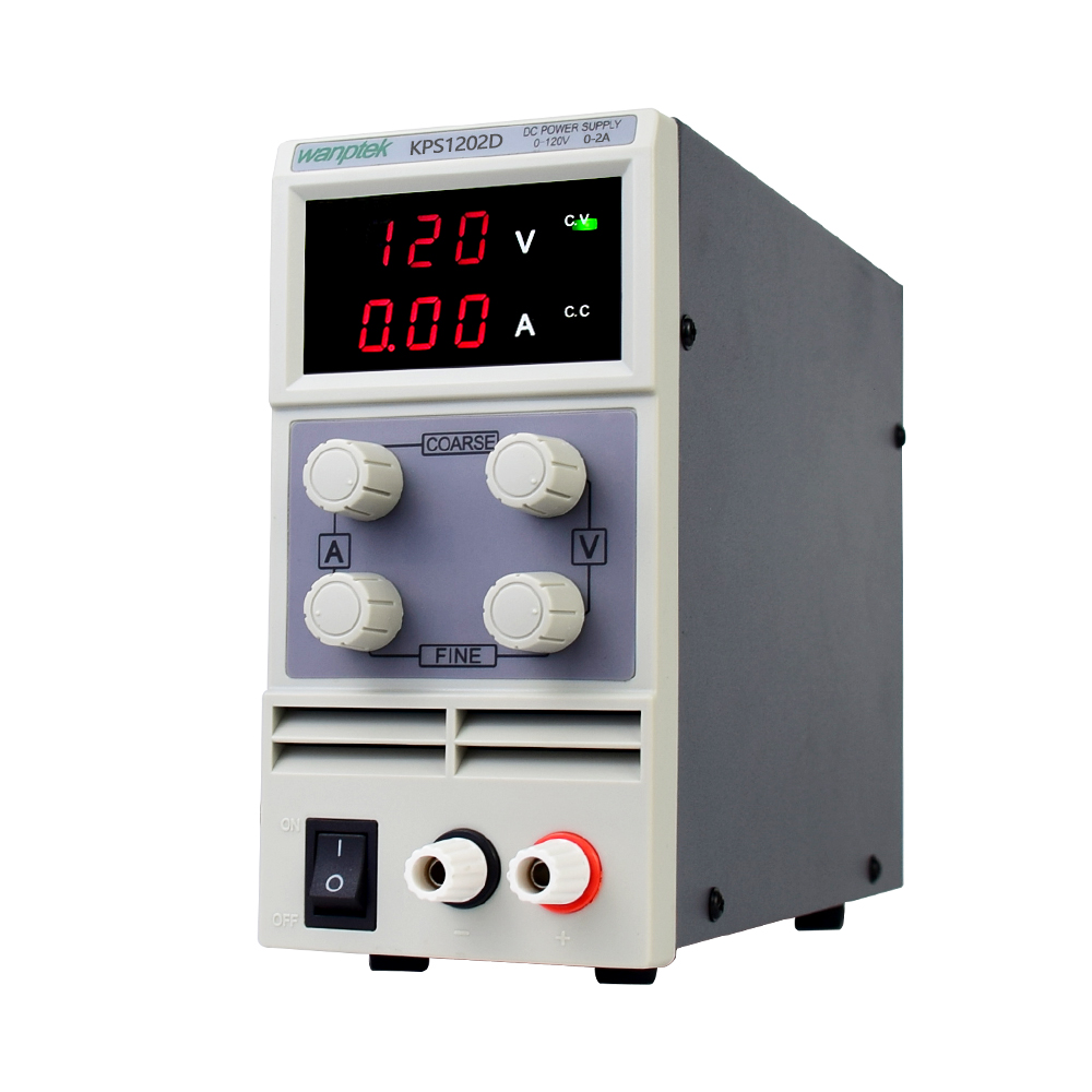 adjustable dc power supply KPS1203D 1202D 1201D dual digital display laboratory power supply regulator 120V 3A 2A 1A 0.1V 0.01A-2