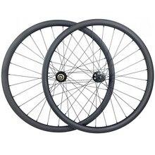 29er MTB XC 36mm carbon BOOST tubeless wheels 30mm inner clincher wheelset UD 3K 12K Novatec D791 D792 15X110 12X148 11s XD 12s
