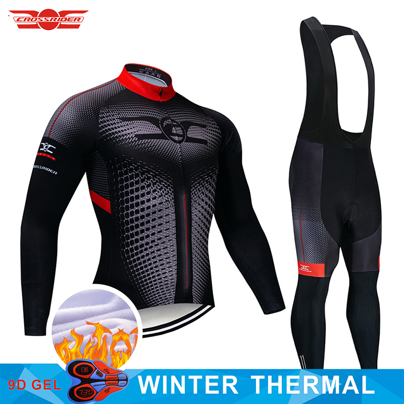 2020 4 Colors Winter Thermal Fleece Cycling Clothing Mens Long 9D Set MTB Ropa Ciclismo <font><b>Bike</b></font> <font><b>Wear</b></font> Bicycle Clothes Cycling Jersey image