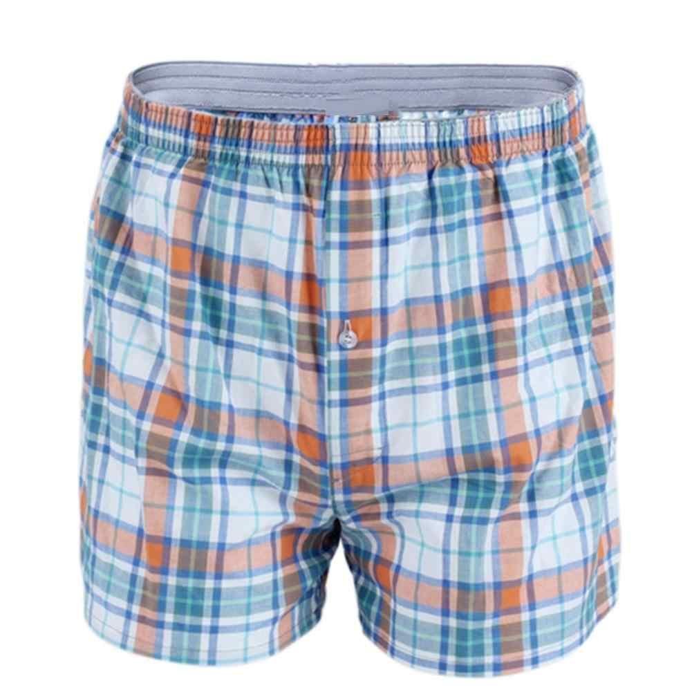 Calzoncillos Boxer Con Estampado A Cuadros Para Hombre Ropa Interior Pantalones Playeros De Verano Cintura Elastica Pantalones Cortos De Surf Aliexpress
