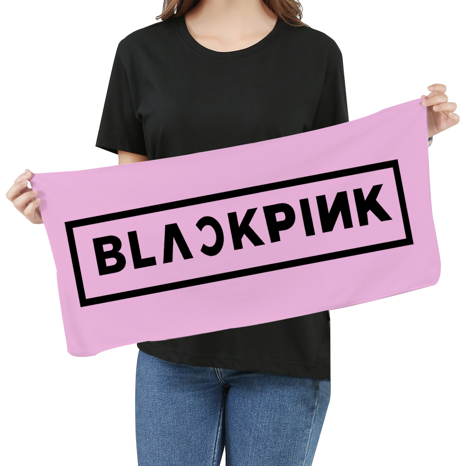 KPOP 2019 Blackpink Towel Fans Respond To Aid Periphery Towel Wash One's Face A Piece Of Cloth Exceed Fine Fiber Banner Towel