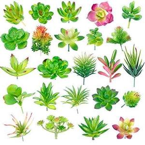 Image 1 - Confezione da 24 piante grasse artificiali pianta da giardino miniatura falso Cactus floreale fai da te casa succulente finte piante finte succulente finte