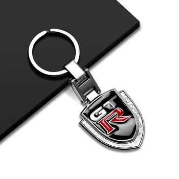 LLavero de Metal con logotipo GTR para coche, soporte de llavero cadena para Nissan NISMO Tiida Teana Juke x-trail Almera Qashqai, accesorios