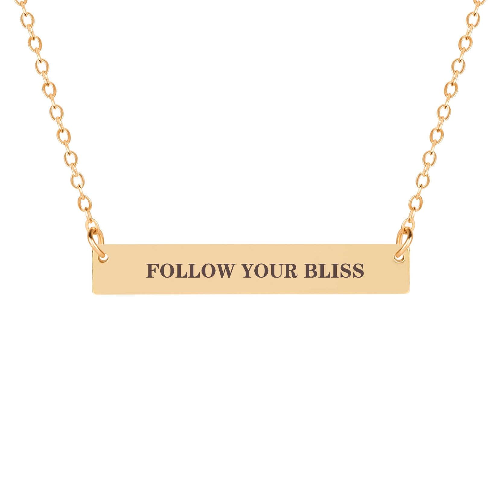 KCALOE ゴールドカラー幸運のネックレスチェーンレターペンダントネックレスのプレゼントのファッションチェーンネックレス奨励卒業ギフト