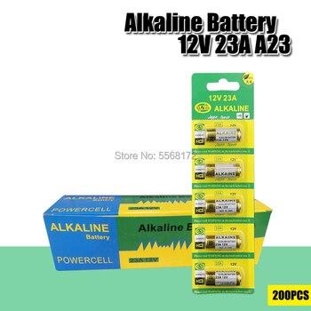200PCS 23a 12v battery 23AE MS21 A23 V23GA VR22 MN21 L1028 alkaline Battery N Size Car remote control key Batteries