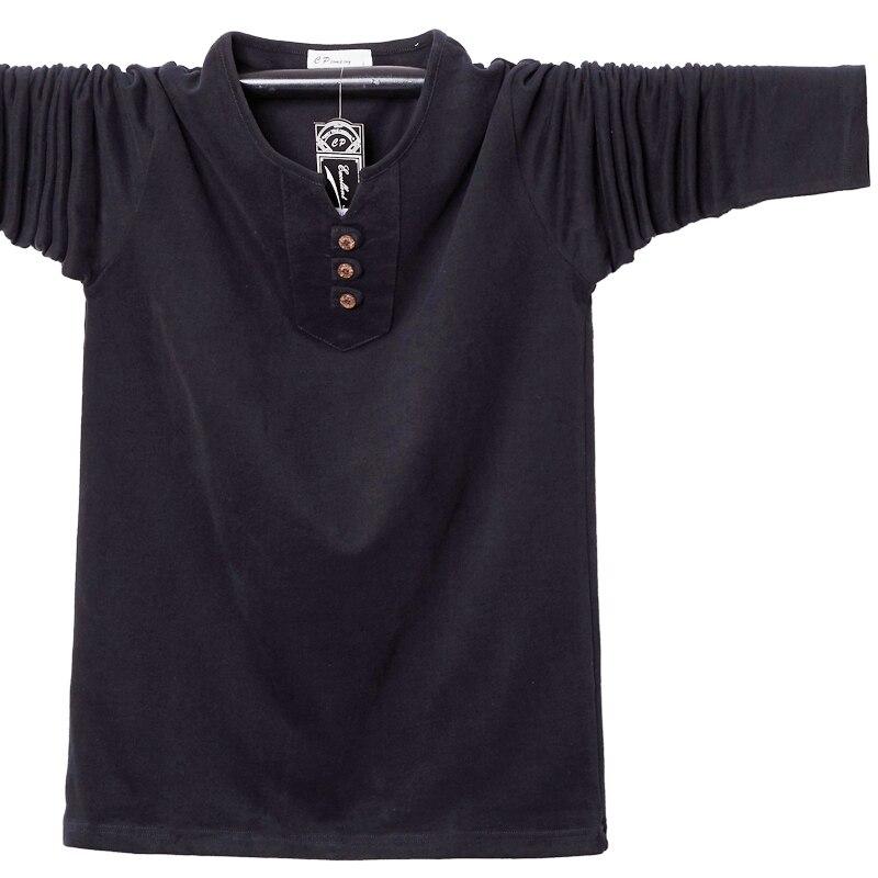 Купить мужская футболка с длинным рукавом и пуговицами размеры до 5xl