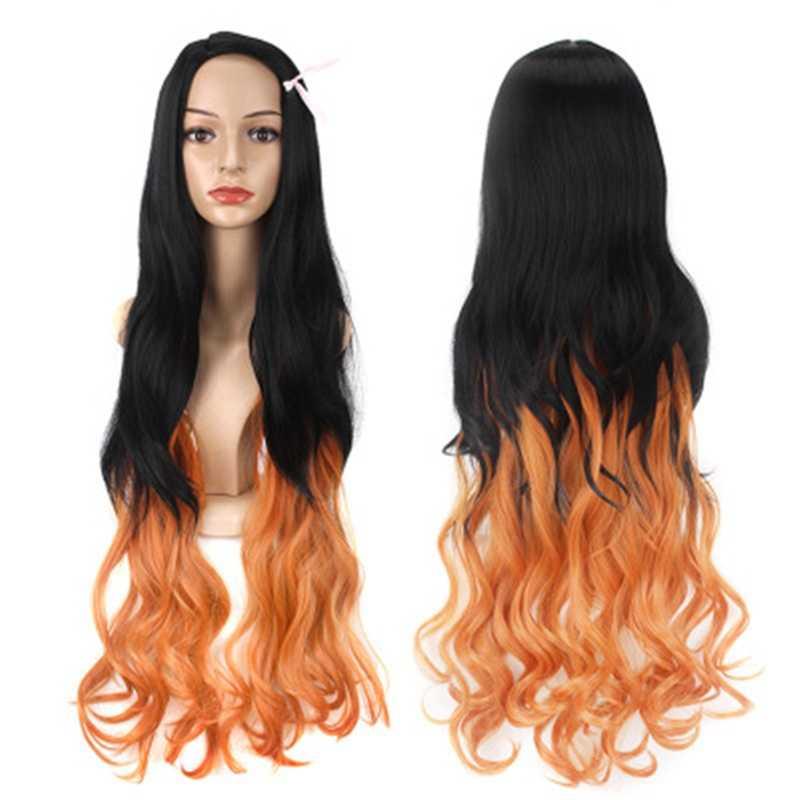 Cosroad Nezuko Tanjirou Kamado парики демон убийца Kimetsu no Yaiba Косплей парики зенитсу агатсума золотые короткие волосы