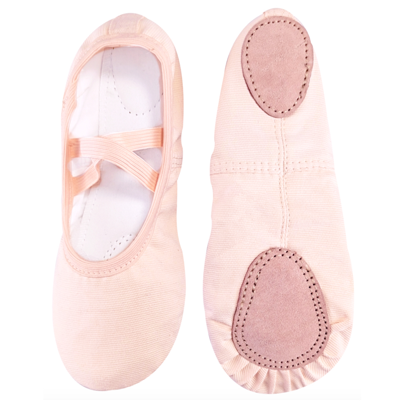 High Quality Kid Canvas Practice Shoes Dancing Ballet Shoes Slippers Gymnastics