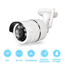 WIFI 1280 x 720P 1MP Bullet IP Camera Waterproof 6LED IR Night Vision Outdoor Security Camera ONVIF P2P CCTV Cam with IR-Cut evolylcam 1mp 720p wired micro sd tf card slot ip camera network alarm onvif p2p cctv security ir cut bullet cam surveillance
