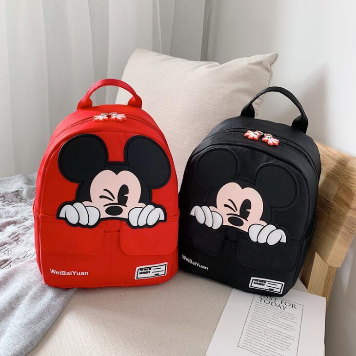 2019 New Mickey School Bag Minnie For Boys Girls Baby Bag Children Backpack Kindergarten Backpack Kid School Bags Satchel