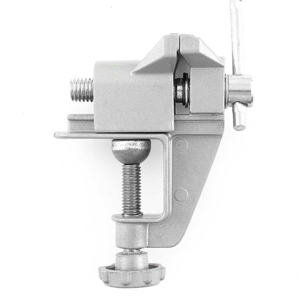 """Mini Tisch Schraubstock 3,5 /""""Work Bench Clamp Drehgelenk Vice Craft Repair TR.DE"""