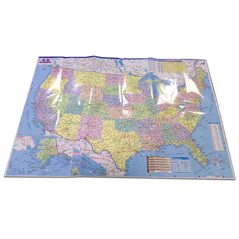 Map Of The United States Transportation Tourism Chinese English Large-scale Full-scale US Districts Detailed Map Of Major Street