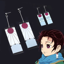 Anime Acryl Ohrringe Серьги Dämon Slayer Kimetsu keine Yaiba TRENDY Cosplay DropEarrings Für Frauen Mädchen Benutzerdefinierte Schmuck Geschenke(China)