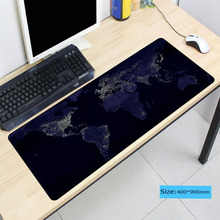 World Map Lock Edge Mouse Pad Large Pad for CSGO Laptop Mouse Notbook