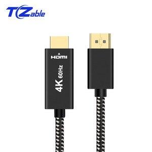Image 3 - 2Meter Displayport al Cavo di HDMI DP a HDMI 2.0 Adapter Per Il Proiettore Display Port 4K 60Hz Audio converter Bianco Nero Treccia