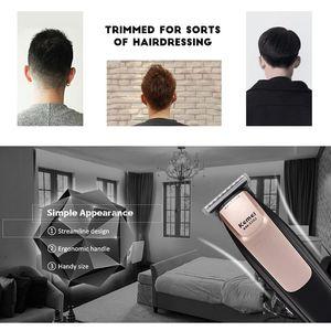 Image 3 - Kemei KM   3202 USB قابلة للشحن الكهربائية مقص الشعر المتقلب تصفيف الشعر صالون حلاقة المنزل