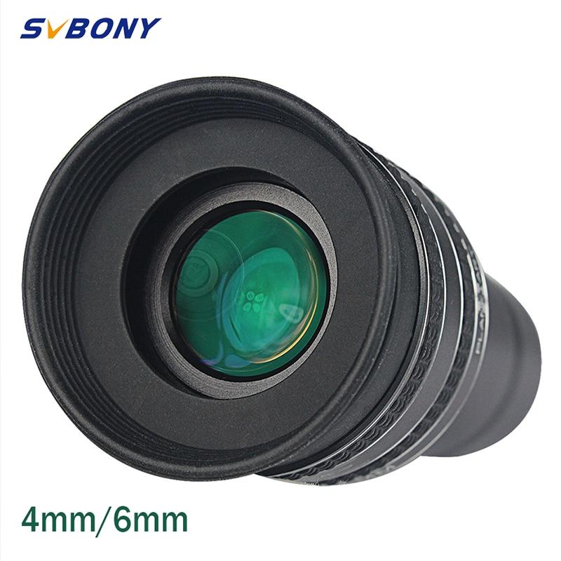 svbony 1 25 eyeeyeocular swa 58 graus 4mm 6mm ocular planetaria para astronomia telescopio monocular binoculos