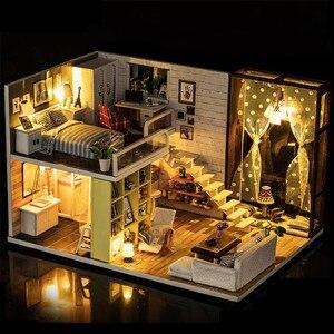 Кукольный домик для Lol DIY, миниатюрный кукольный домик, набор для поделок для взрослых, кукольный домик, мебель, игрушки, дом, игрушки, Madeira ...