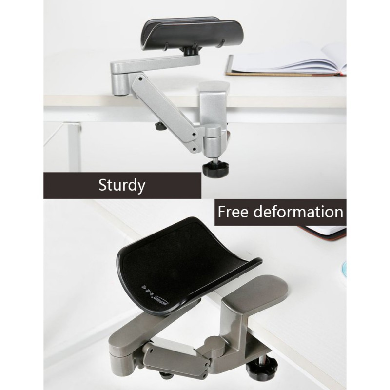 Sturdy Superior Aluminum Alloy Computer Mouse Hand Bracket Adjustable Arm Mouse Pad For Home And Office