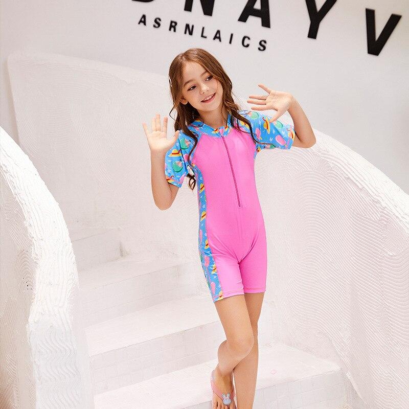 KID'S Swimwear Siamese Swimsuit GIRL'S Medium And Small Men And Women Children 1-12-Year-Old Cute Baby Split Type Hot Springs Sw