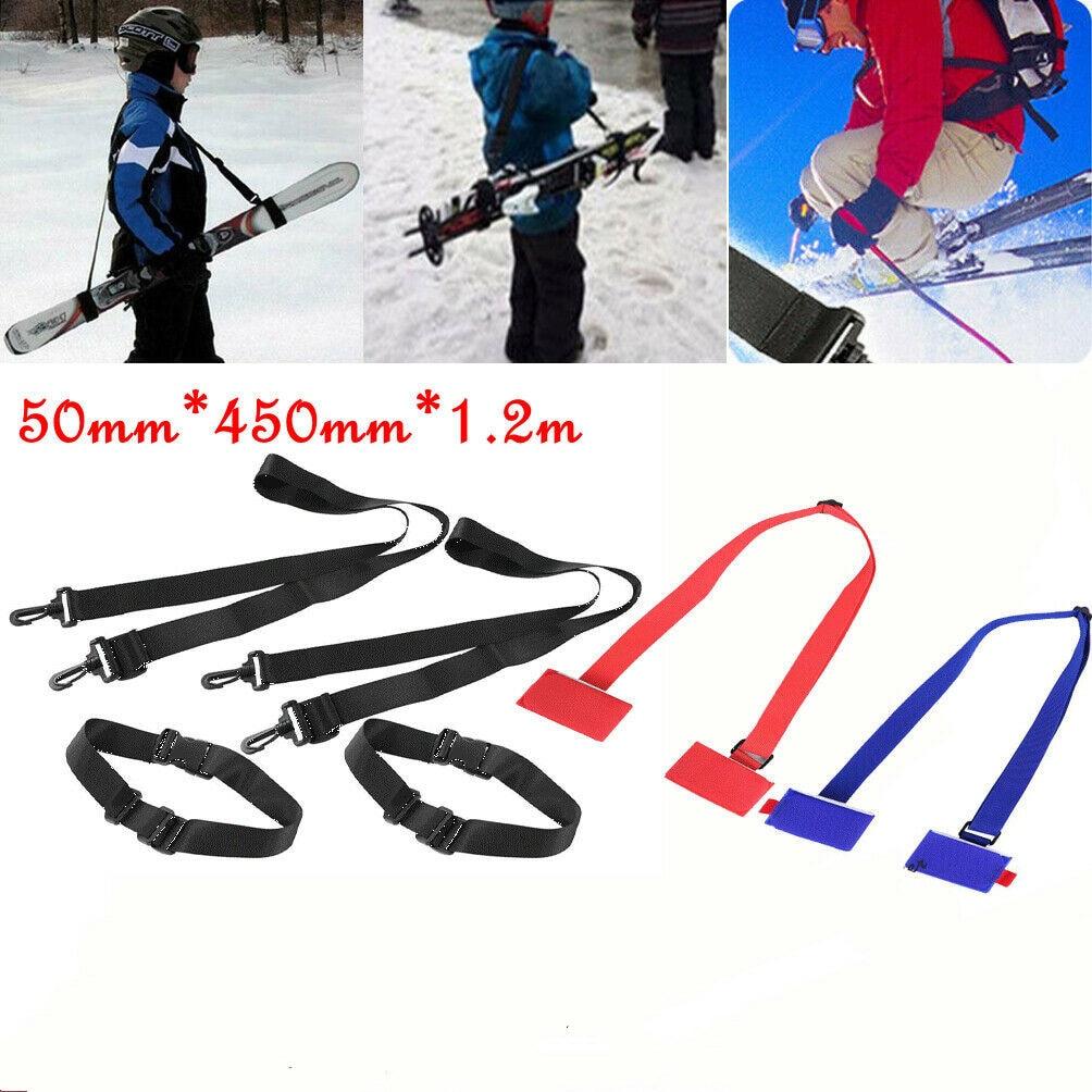 1.2M Adjustable Ski Pole Snowboard Bag Ski Snowboard Shoulder Carrier Lash Handle Straps Snowboard Accessories