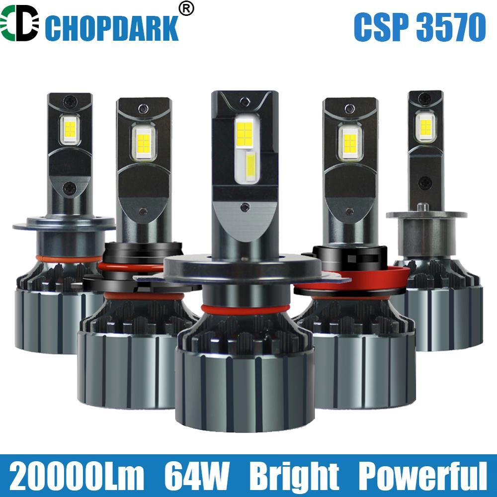 Светодиодный H7 H4 9005 HB3 9006 HB4 9012 HIR2 HB2 9003 Автомобильный светодиодный фары для 3570 большой чипы 64W 20000Lm Canbus ready, 2 предмета в комплекте