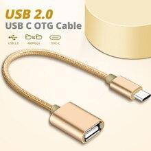 VOXLINK 유형 C OTG 접합기 USB 유형 C 여성 변환기 케이블 저속한 드라이브 독자 쥐 Gamepad 정제 이동 전화 USB 연결 관