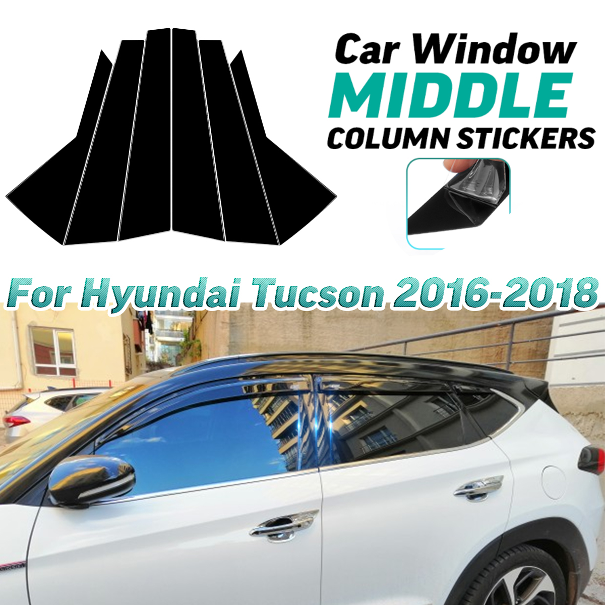 Front Hood /& Rear Trunk Lid Streamer Cover Trim For Hyundai Tucson 2016-2018