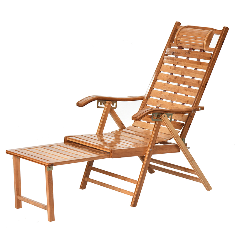 Bamboo Recliner Folding Chair Home Lunch Break Chair Siesta Chair Cool Chair Old Casual Leisure Chair Solid Wood Chair