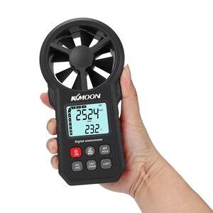 Image 2 - Цифровой мини термометр KKMOON, мини цифровой анемометр с ЖК экраном, измеритель скорости ветра, температуры воздуха, тестер холдпиков, с функцией измерения температуры, с функцией измерения температуры