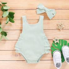 Summer Baby Clothes Fashion Newborn Toddler Infant Girls Deer Ruffles Romper Jumpsuit Outfits