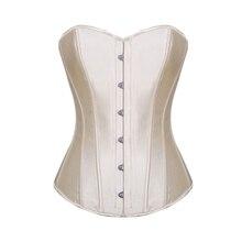Burvogue Gợi Cảm Nịt Và Áo Ngực Nữ Overbust Áo Thép Boned Áo Ngực Vintage Satin Cô Dâu Áo Áo Ngực Cao Cấp Cho Nữ