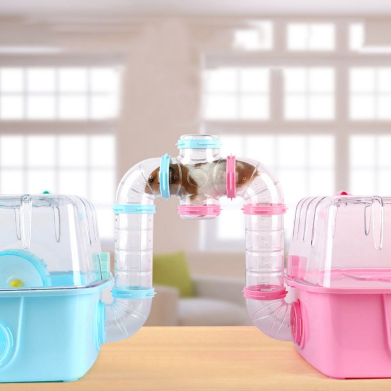 Hamster Spherical Tunnel Transparent Acrylic Cage Pet Funny Exercise Sports Toys C63B