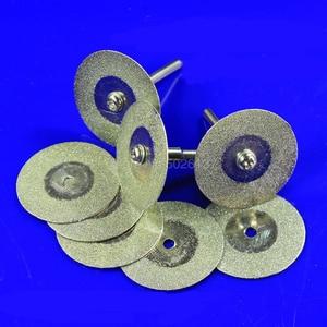 1 pçs diamante revestido roda de volta plana polimento disco de moagem serra de corte circular ferramenta rotativa discos titânio corte ouro