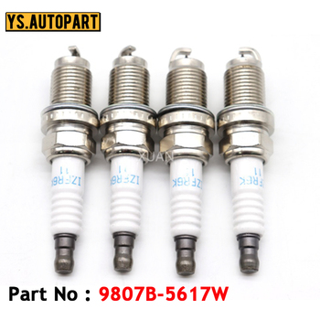 4pcs/lot Iridium Spark Plug 9807B-5617W For ACURA CSX MDX RL RSX TL TSX For HONDA ACCORD CIVIC CR-V ELEMENT image