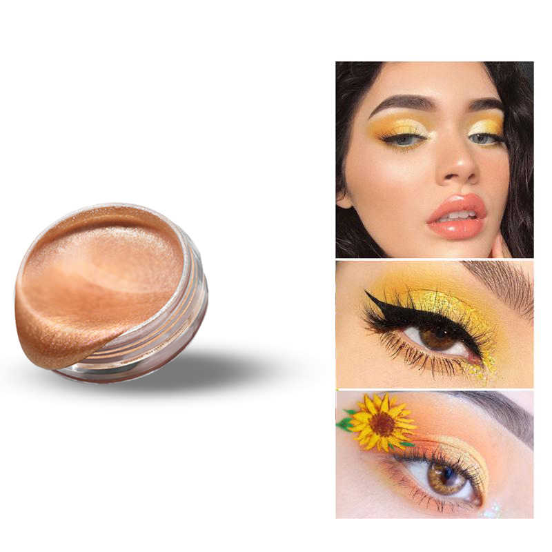 7 Warna Eyeshadow Pigmen Yang Tinggi Loose Powder Kuning Hijau Biru Eye Shadow Debu Musim Panas Eyeshadow Bubuk Palet